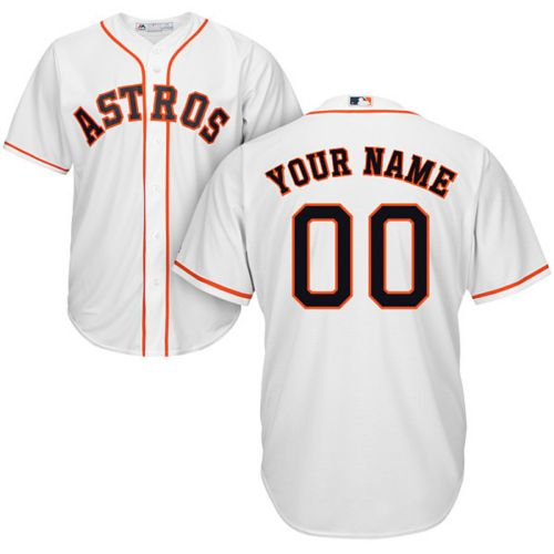 e1b9c0725 Majestic Youth Custom Cool Base Replica Houston Astros Home White ...
