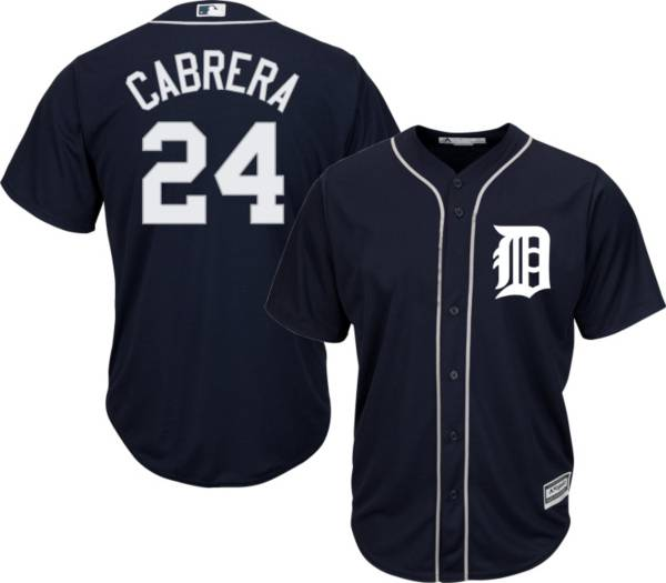 Majestic Youth Replica Detroit Tigers Miguel Cabrera #24 Cool Base Alternate Navy Jersey product image