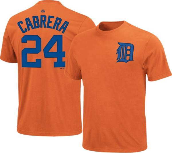 Majestic Youth Detroit Tigers Miguel Cabrera #24 Orange T-Shirt product image