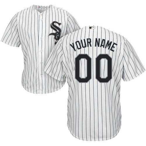 8816cf8e8 Majestic Youth Custom Cool Base Replica Chicago White Sox Home White ...