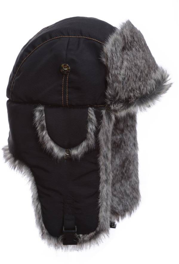 Mad Bomber Men's Black Supplex Faux Fur Bomber Hat product image