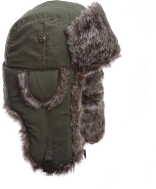 9ff825ade3245 Mad Bomber Men s Olive Supplex Faux Fur Bomber Hat