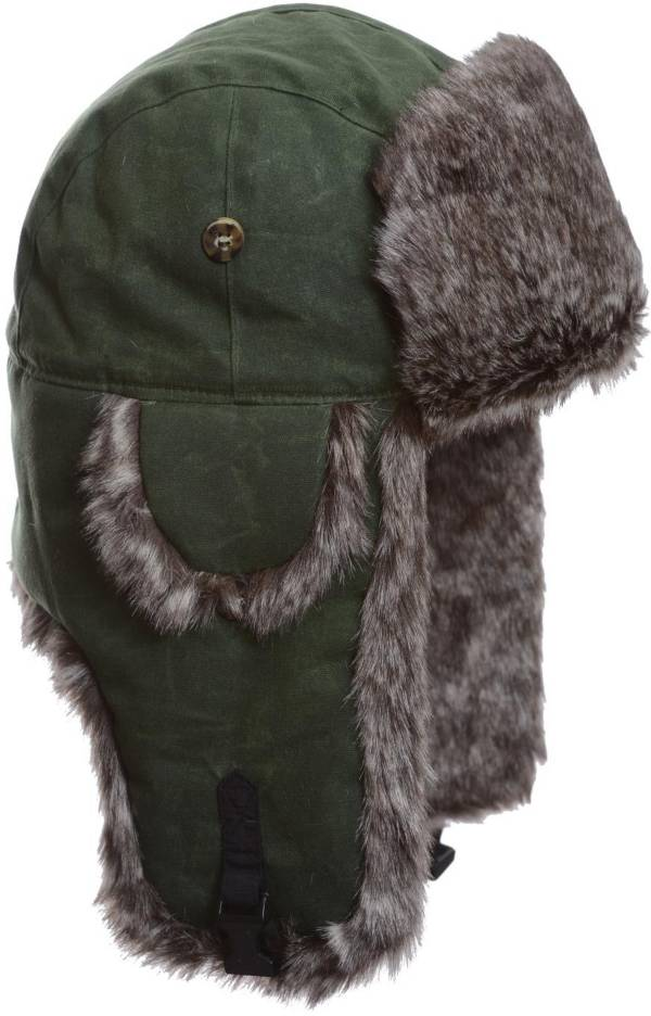 Mad Bomber Men's Moss Green Waxed Cotton Bomber Hat product image