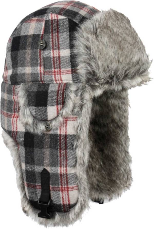 Mad Bomber Men's Wool Plaid Faux Fur Wool Bomber product image