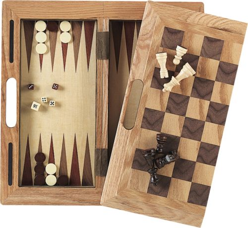 Mainstreet Classics 3 In 1 Chess Checkers And Backgammon Game Set