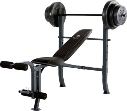 Marcy Mid Width Weight Bench And 100 Lbs Weight Set Dick S
