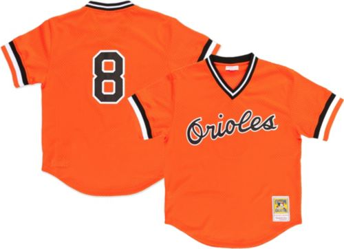 3571199c68e Mitchell   Ness Men s Replica Baltimore Orioles Cal Ripken Jr. Orange  Cooperstown Batting Practice Jersey