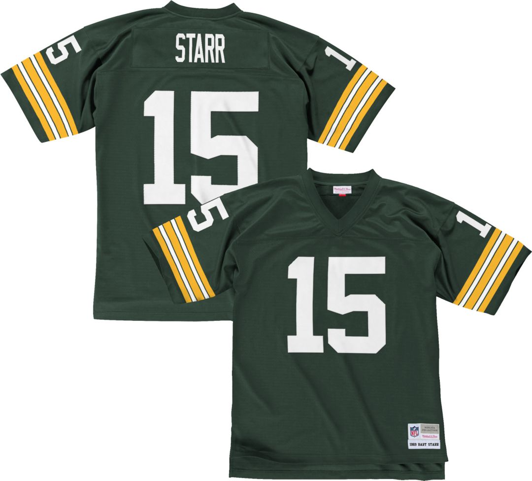 new concept 9a886 4b6f5 Mitchell & Ness Men's 1969 Home Game Jersey Green Bay Packers Bart Starr #15