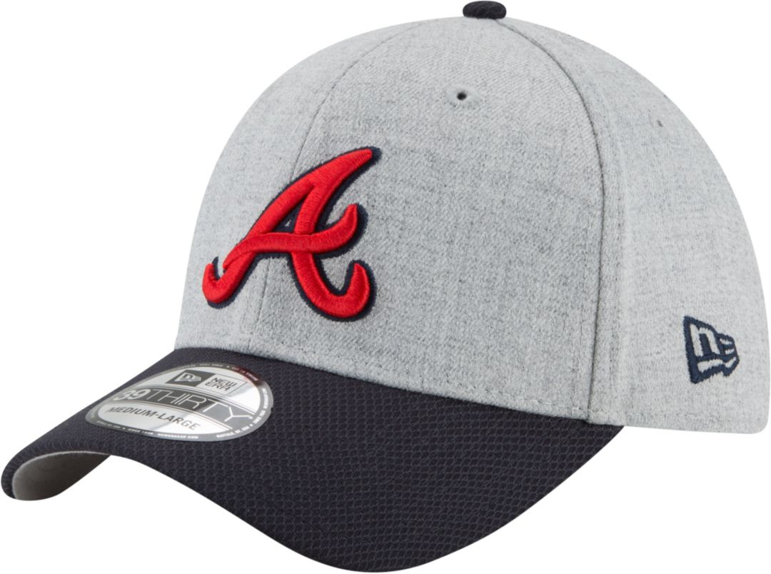 finest selection b7317 d0cc3 New Era Men s Atlanta Braves 39Thirty Change Up Redux Grey Stretch Fit Hat.  noImageFound. Previous