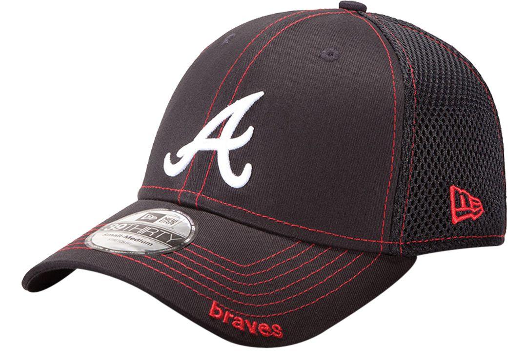 bc68fe512 New Era Men's Atlanta Braves 39Thirty Neo Navy Stretch Fit Hat.  noImageFound. 1