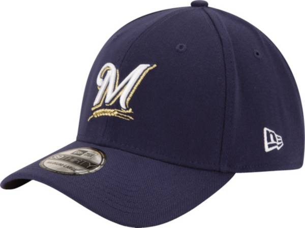 New Era Men's Milwaukee Brewers 39Thirty Classic Navy Stretch Fit Hat product image