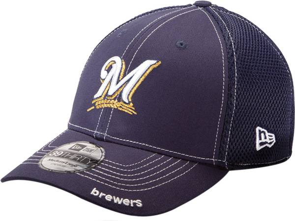 New Era Men's Milwaukee Brewers 39Thirty Neo Navy Stretch Fit Hat product image