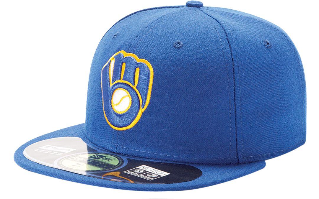 watch 1da79 61626 New Era Men s Milwaukee Brewers 59Fifty Alternate Royal Authentic Hat.  noImageFound. 1