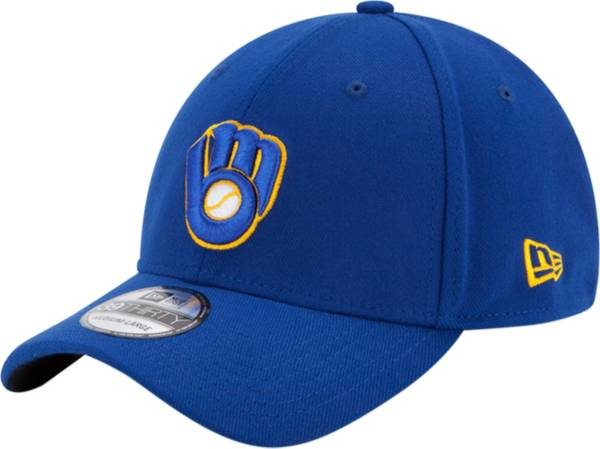 New Era Men's Milwaukee Brewers 39Thirty Classic Royal Stretch Fit Hat product image