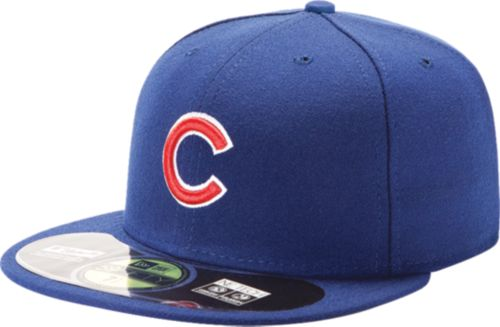 dcd24fc4d41 New Era Men s Chicago Cubs 59Fifty Home Royal Authentic Hat. noImageFound. 1