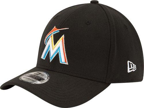 a0e3919067f ... spain new era mens miami marlins 39thirty classic black stretch fit hat  5874f 8d85b