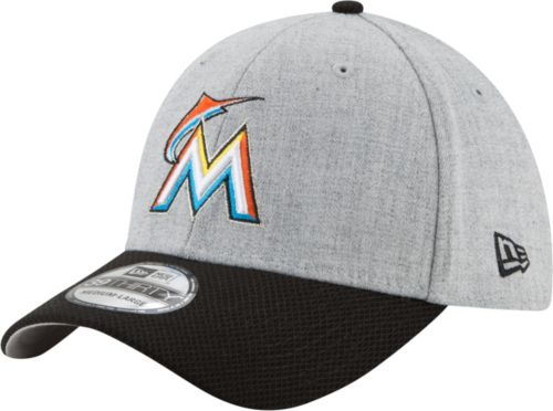 4a7da74b New Era Men's Miami Marlins 39Thirty Change Up Redux Grey Stretch Fit Hat.  noImageFound. Previous