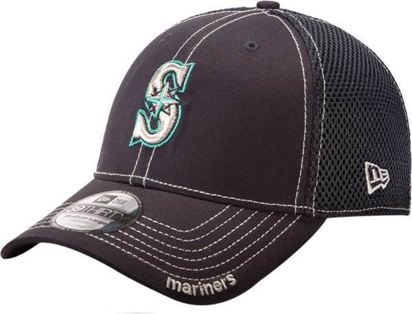 New Era Men's Seattle Mariners 39Thirty Neo Navy Stretch Fit Hat product image