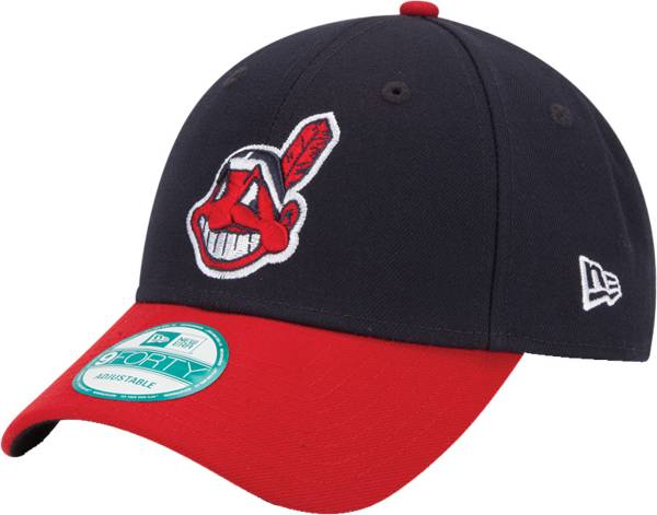 New Era Men's Cleveland Indians 9Forty Navy Adjustable Hat product image