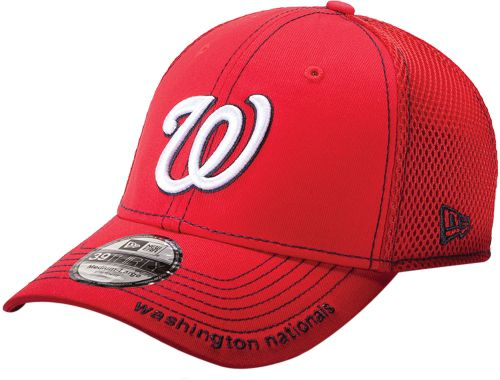 2e863bc47e816 New Era Men s Washington Nationals 39Thirty Neo Red Stretch Fit Hat ...