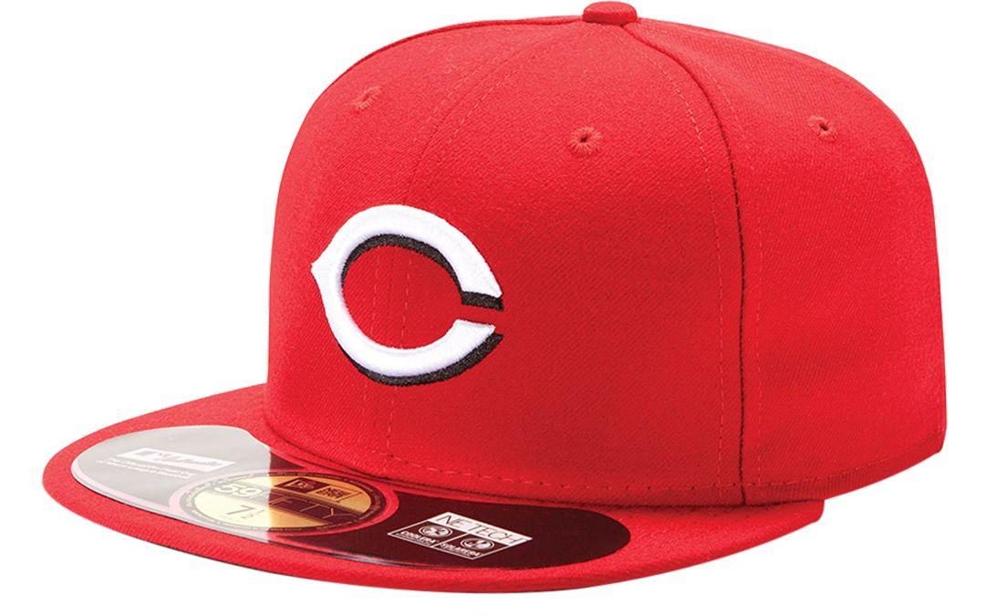 eea38f68799853 New Era Men's Cincinnati Reds 59Fifty Home Red Authentic Hat. noImageFound.  1