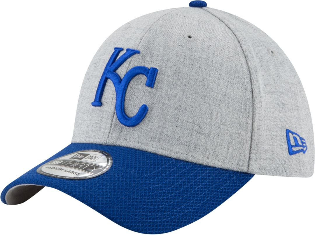 7a1858f0 New Era Men's Kansas City Royals 39Thirty Change Up Redux Grey Stretch Fit  Hat