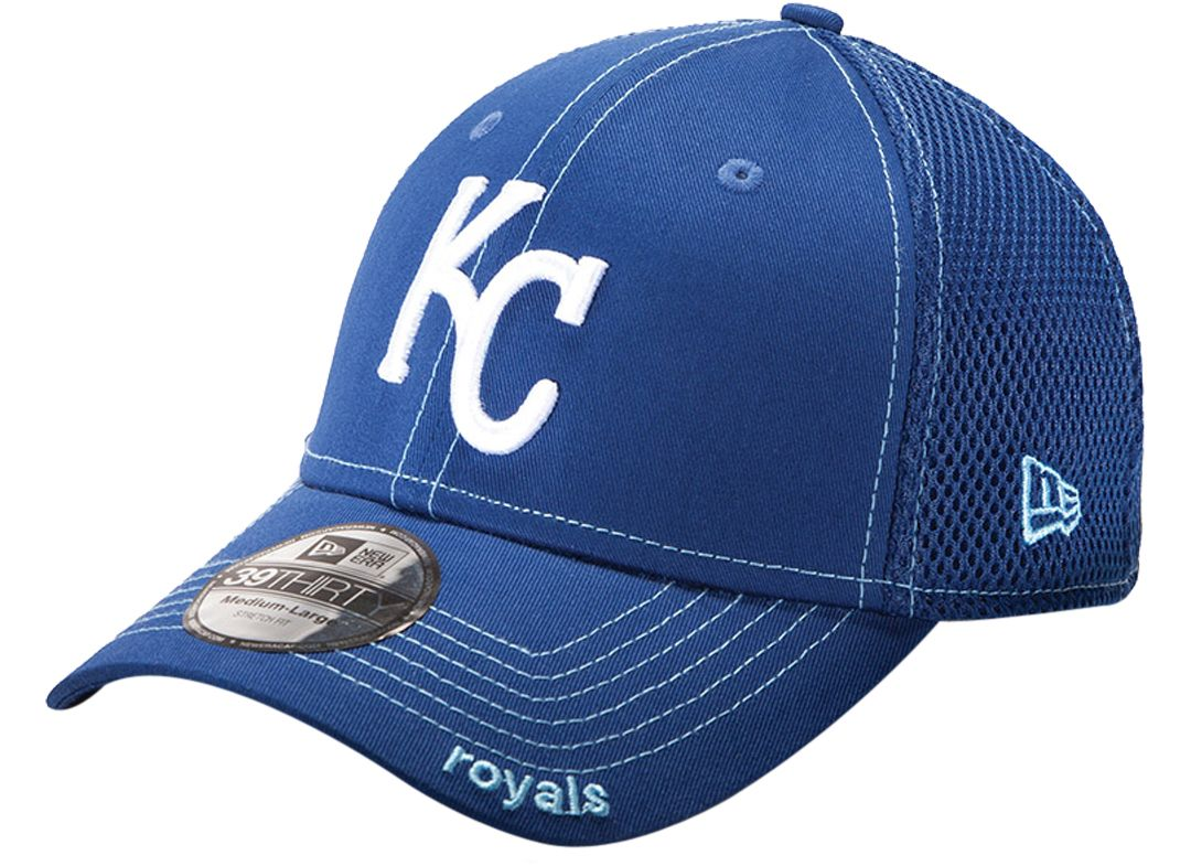 89c96723 New Era Men's Kansas City Royals 39Thirty Neo Royal Stretch Fit Hat