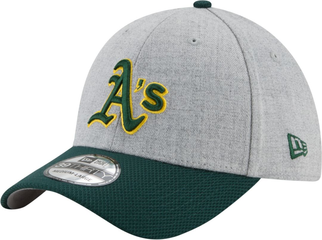 a70bc1c8 New Era Men's Oakland Athletics 39Thirty Change Up Redux Grey Stretch Fit  Hat