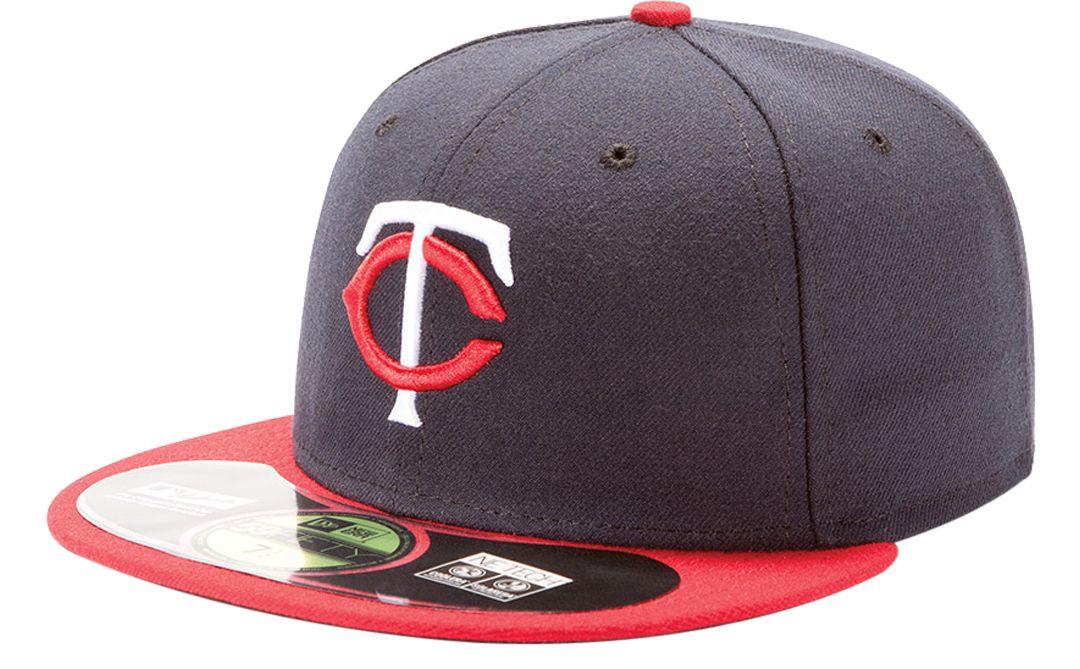 san francisco 61335 bee91 New Era Men s Minnesota Twins 59Fifty Road Navy Authentic Hat.  noImageFound. 1