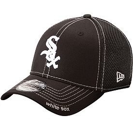 New Era Men s Chicago White Sox 39Thirty Neo Black Stretch Fit Hat ... 53dcf015961