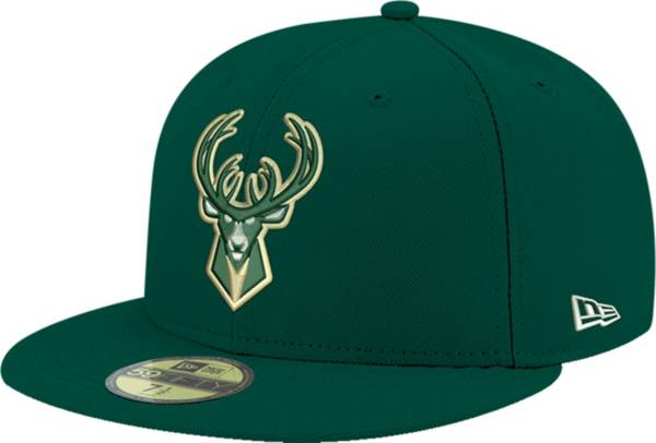 New Era Men's Milwaukee Bucks 59Fifty Green Fitted Hat product image