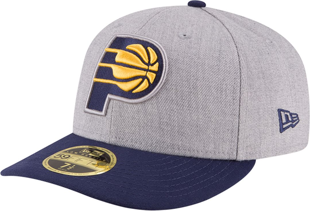 new arrival ae95d ea118 New Era Men s Indiana Pacers 59Fifty Low Crown Grey Fitted Hat   DICK S  Sporting Goods