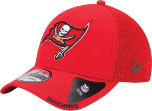 New Era Men s Tampa Bay Buccaneers 39Thirty Neo Red Stretch Fit Hat.  noImageFound. Previous 0ca854f7ffb9