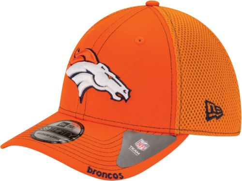 New Era Men s Denver Broncos 39Thirty Neo Orange Stretch Fit Hat ... ae74bf983573