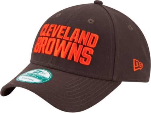 huge selection of 6f692 02879 New Era Men s Cleveland Browns League 9Forty Brown Adjustable Hat 1