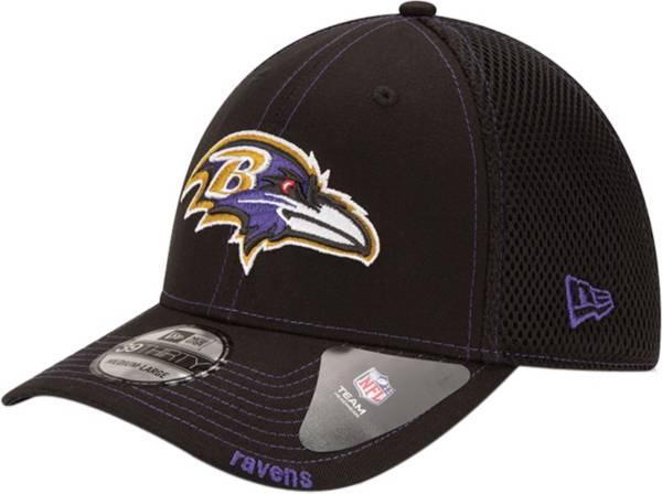 New Era Men's Baltimore Ravens 39Thirty Neoflex Black Stretch Fit Hat product image