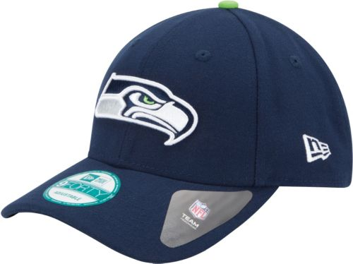 New Era Men s Seattle Seahawks League 9Forty Adjustable Navy Hat ... 5481ec120