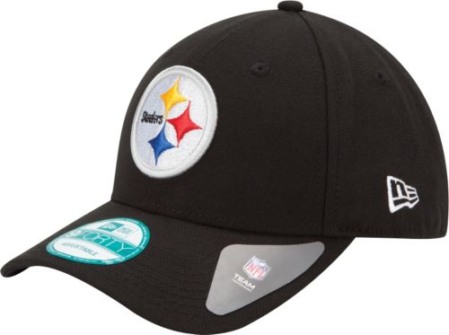 085526f74 New Era Men s Pittsburgh Steelers League 9Forty Adjustable Black Hat.  noImageFound. Previous