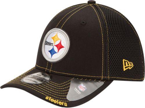 5ba3cdb0f New Era Men s Pittsburgh Steelers 39Thirty Neoflex Black Stretch Fit ...