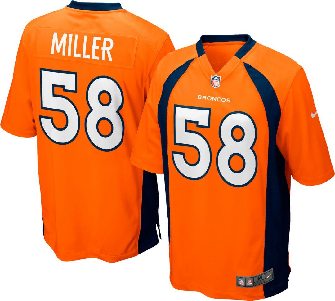 new products c9a28 3819d Nike Boys' Home Game Jersey Denver Broncos Von Miller #58
