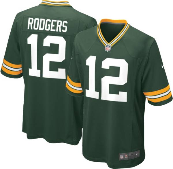 Nike Boys' Home Game Jersey Green Bay Packers Aaron Rodgers #12 product image