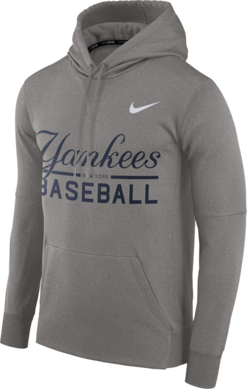7717d1602e61 Nike Men s New York Yankees Dri-FIT Grey Therma Pullover Hoodie ...