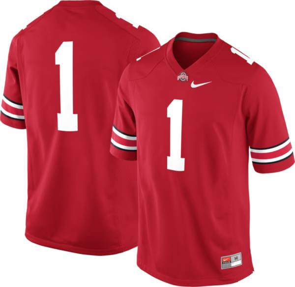 Nike Men's Ohio State Buckeyes #1 Scarlet Game Football Jersey product image