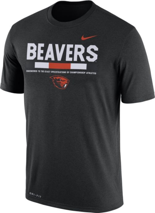 f4b29510 Nike Men's Oregon State Beavers Football Staff Legend Black T-Shirt.  noImageFound. Previous