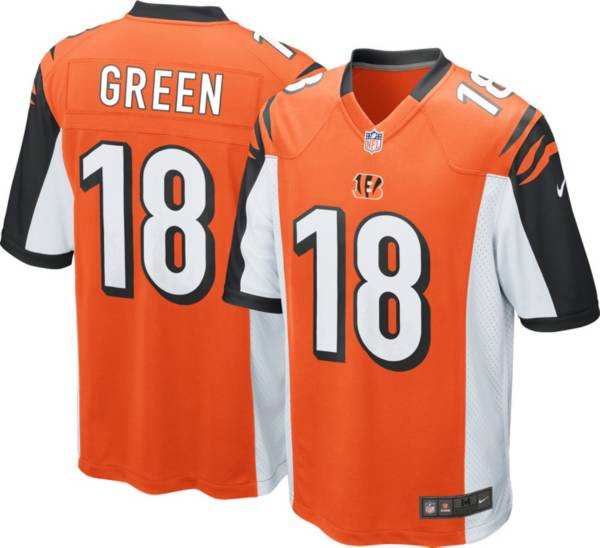 Nike Men's Cincinnati Bengals A.J. Green #18 Orange Game Jersey product image