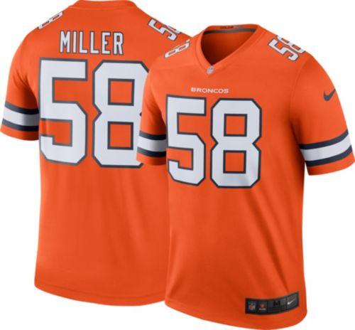 093704c0104 Nike Men s Color Rush Denver Broncos Von Miller  58 Legend Jersey ...