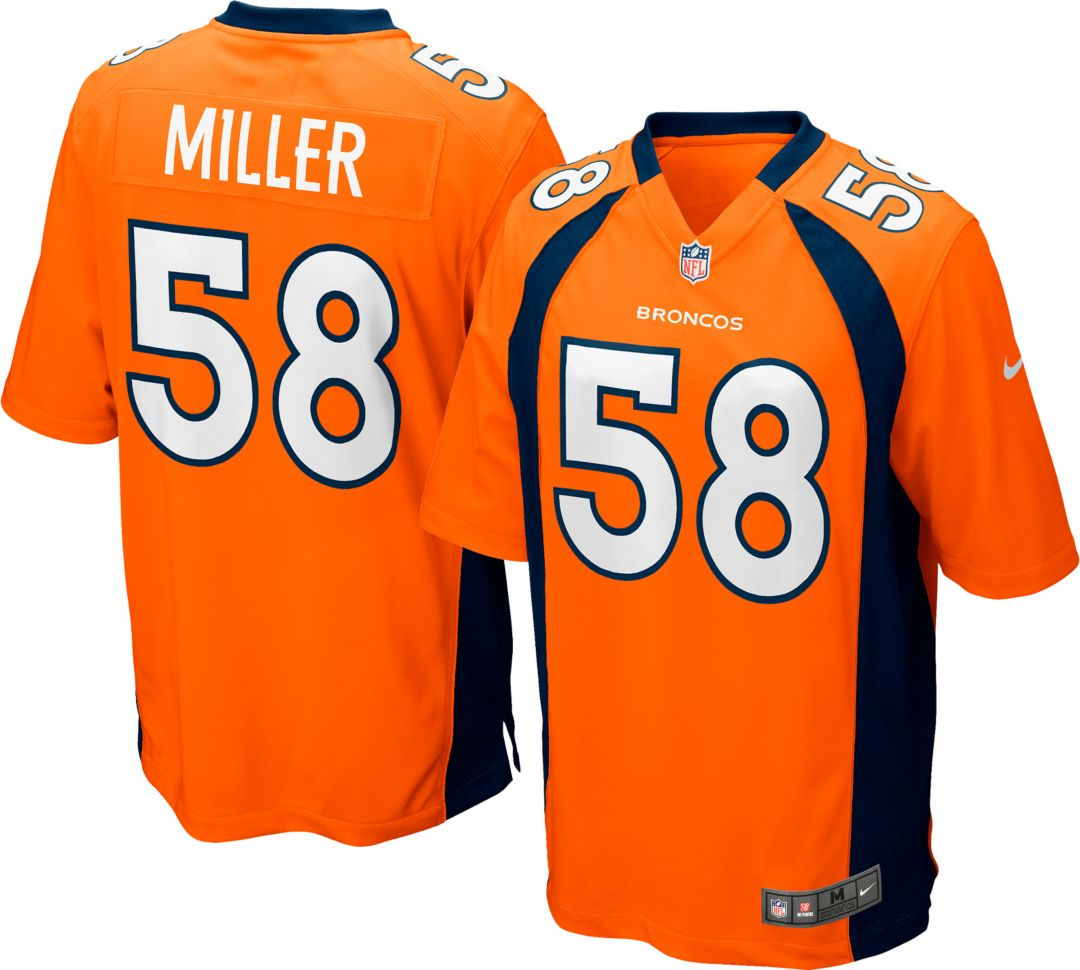 78431c28fc873 Nike Men's Home Game Jersey Denver Broncos Von Miller #58. noImageFound.  Previous