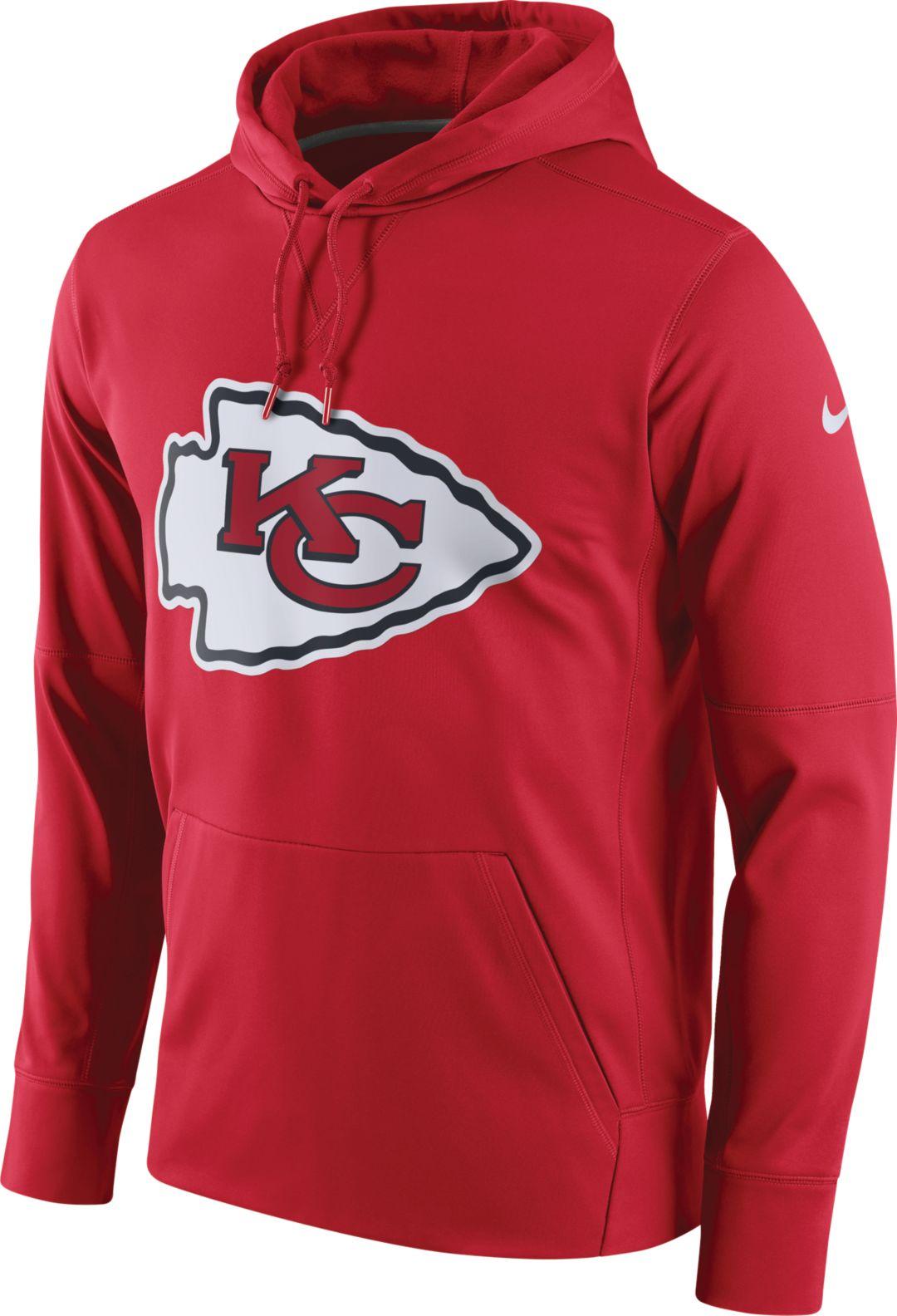 313ed2af8e38 Nike Men s Kansas City Chiefs Performance Circuit Logo Essential Red Hoodie  1