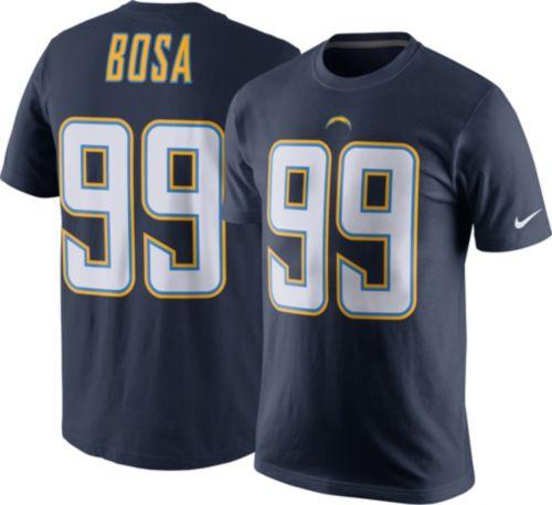 4203f7846 Nike Men s Los Angeles Chargers Joey Bosa  99 Pride Navy T-Shirt ...
