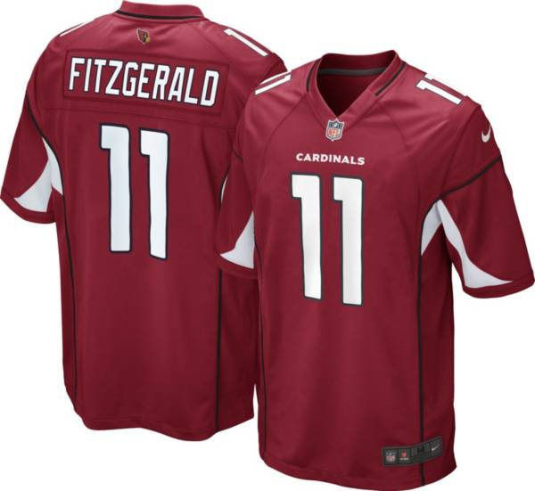 Nike Men's Arizona Cardinals Larry Fitzgerald #11 Red Game Jersey product image